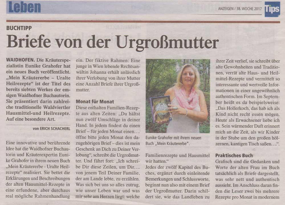 Eunike Grahofer Kräutererbe Heilrezepte alte Überlieferungen