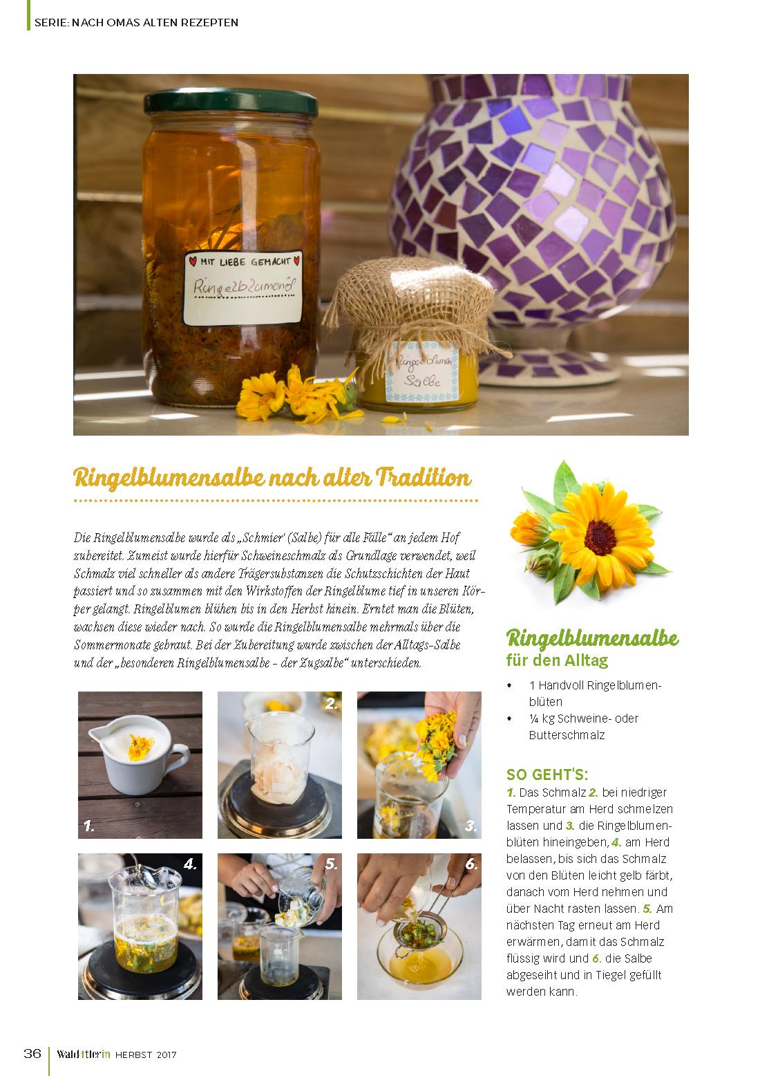 Schritt für Schritt Beschreibung Herstellung Ringelblumensalbe