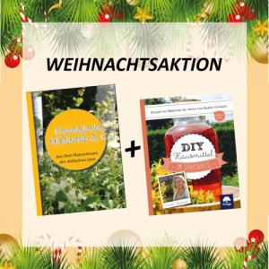 Cover Buch DIY Hausmittel im Jahreskreis und DVD Gundelrebe, Maedesuess & Co im Zuge der Weihnachtsaktion