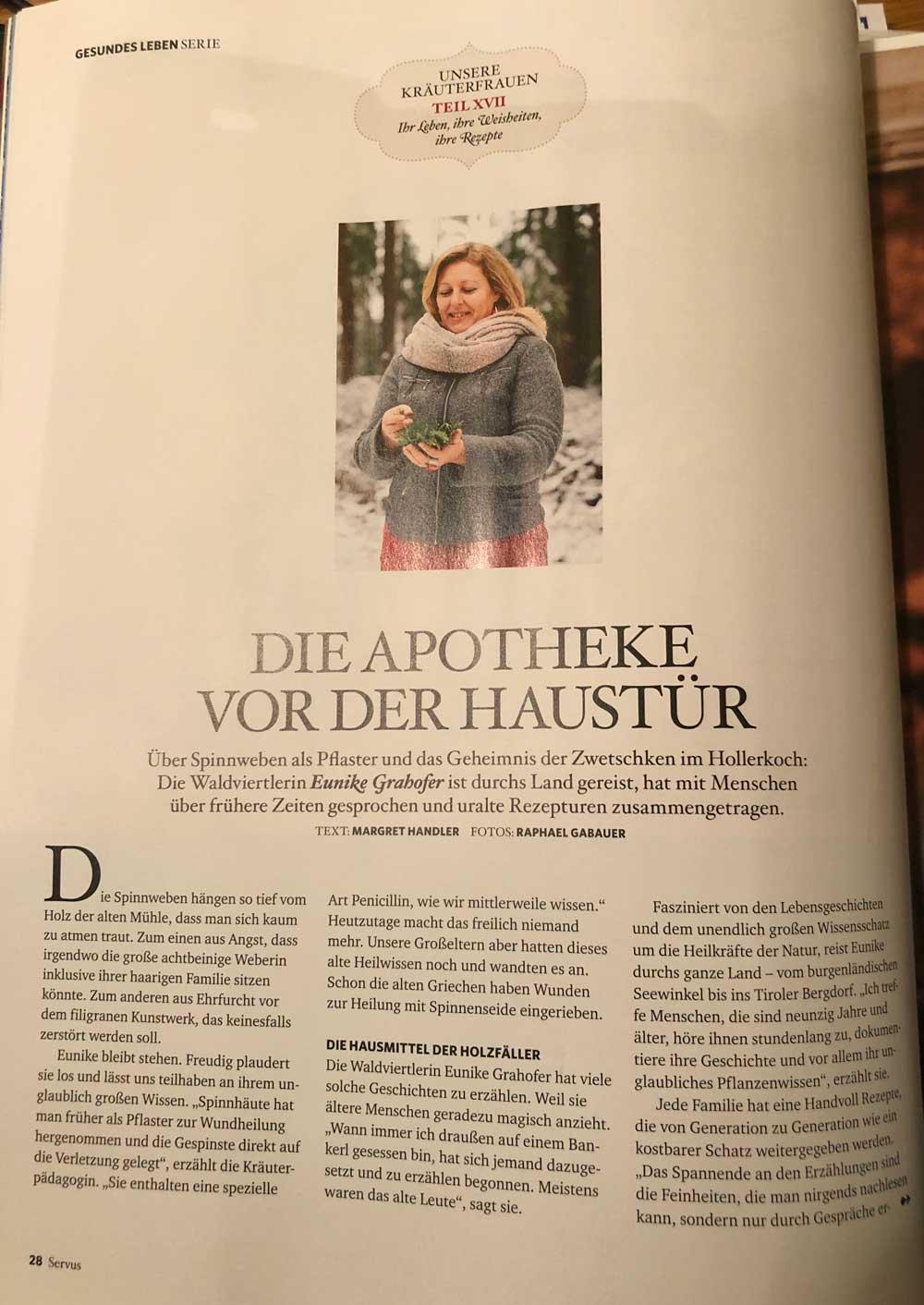 Erste Seite Artikel Die Apotheke vor der Haustuere Magazin Servus
