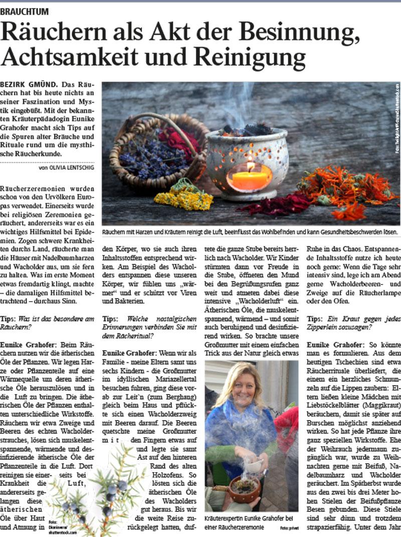 Zeitungsartikel mit dem Thema Raeuchern