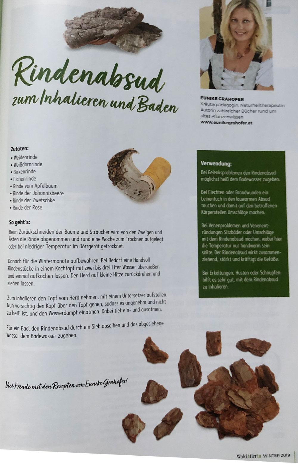 Rezept Rindenabsud zum Baden und Inhalieren